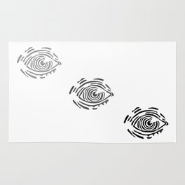 Fading eye // hatching eye rubber carved stamp Rug