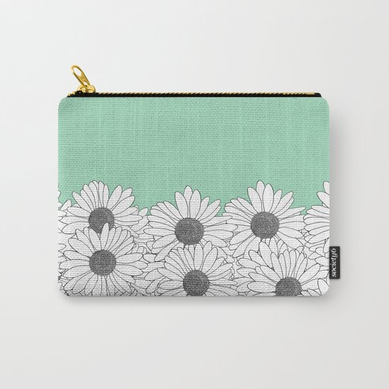 Daisy Boarder Mint Carry-All Pouch