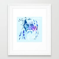 gandalf Framed Art Prints featuring Gandalf by BIG Colours
