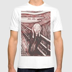 The Scream's Haze (red) Mens Fitted Tee MEDIUM White
