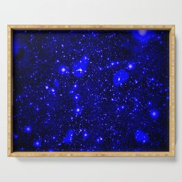 Dark Matter Galaxy Blue Serving Tray