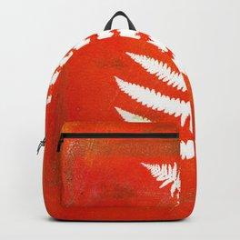 Bright Orange Fern Backpack