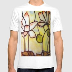 Stained Glass Mens Fitted Tee White MEDIUM