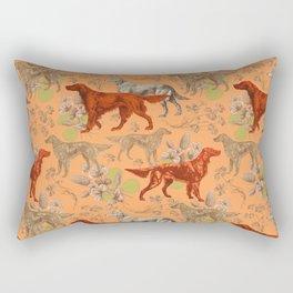 Irish Red Setter Dogs Pattern Rectangular Pillow