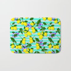 Pattern of lemons Bath Mat