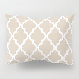 Moroccan Quatrefoil Pattern: Beige Pillow Sham
