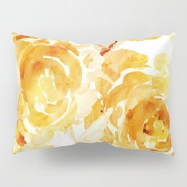 Sunny Day Painterly Floral Abstract Pillow Sham