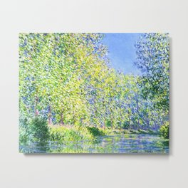 Monet: Bend in the River Epte Metal Print