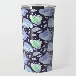 Modern abstract mint pastel purple floral illustration Travel Mug