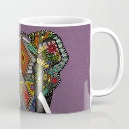 floral elephant violet Coffee Mug