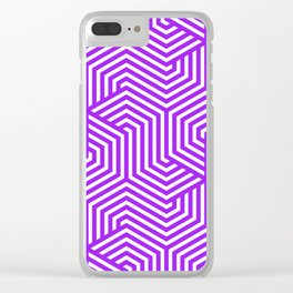 Purple (X11) - violet - Minimal Vector Seamless Pattern Clear iPhone Case