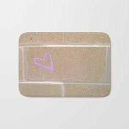 love on cement Bath Mat