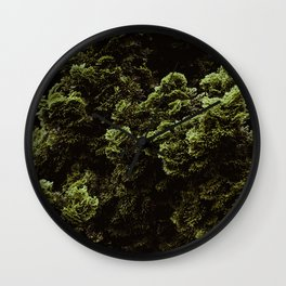 The Moss Pattern (Color) Wall Clock