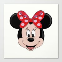 minnie mouse Canvas Prints featuring Minnie Mouse by Yuliya L