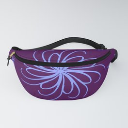 Purple flower Fanny Pack