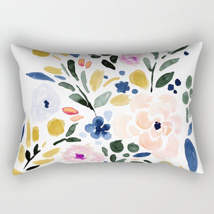 Sierra Floral Rectangular Pillow