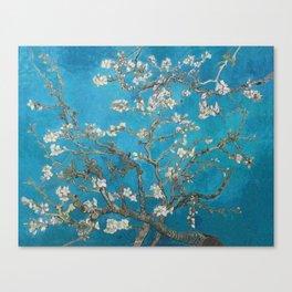 Vincent van Gogh Blossoming Almond Tree (Almond Blossoms) Medium Blue Canvas Print