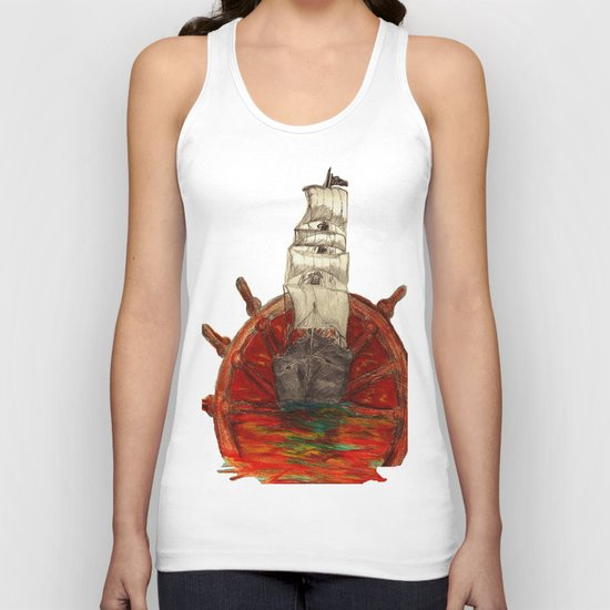 Steering into a new setting Unisex Tank Top