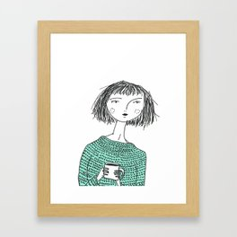 Coffee and Sweaters Framed Art Print