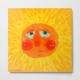 Sunny Sizzle Metal Print