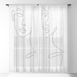 Lady Sketch Sheer Curtain