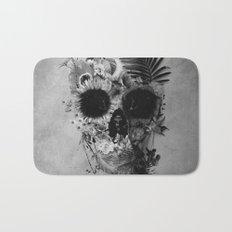 Garden Skull B&W Bath Mat