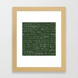 Geek math or economic pattern Framed Art Print