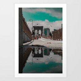 Brooklyn in a Puddle Art Print