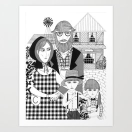 Amish People  Art Print