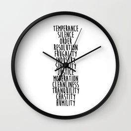 13 Virtues Wall Clock