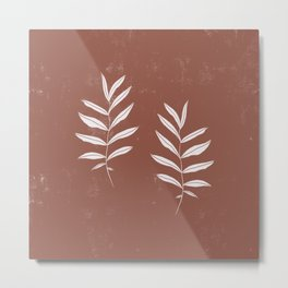 Abstract Leave Pattern Metal Print