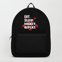 Eat Sleep Hockey Repeat Backpack