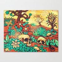 desert Canvas Prints featuring Desert by Sherdeb Akadan