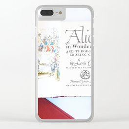 Alice in Wonderland 3 Clear iPhone Case