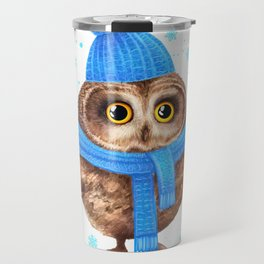 winter Owl Travel Mug