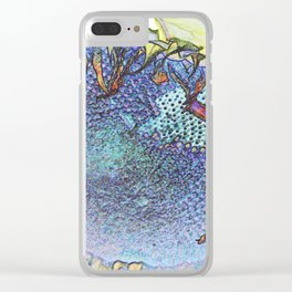 Expressionism Sunflower Clear iPhone Case