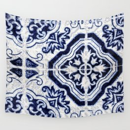 Azulejo VI - Portuguese hand painted tiles Wall Tapestry