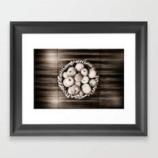 Bowl of apples Framed Art Print