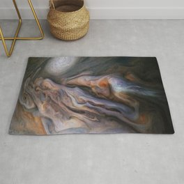 Jupiter's Magnificent Swirling Clouds Rug