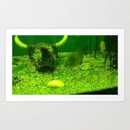 acvarium - green Art Print