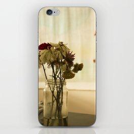 Soft warm flowers in studio iPhone Skin