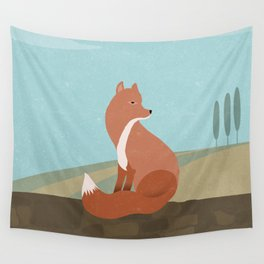 F is for Fox Wall Tapestry