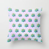 gamer Throw Pillows featuring Gamer by Krista Rae