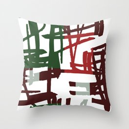 Scribbled Lines Throw Pillow