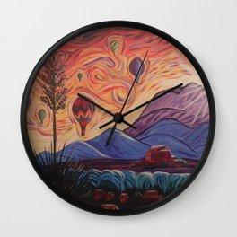 The Balloony Sunrise Wall Clock