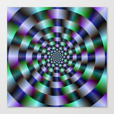 Rings of Green Blue and Violet  Canvas Print