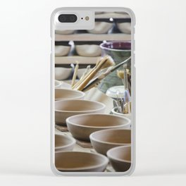 In the Pottery Shop Clear iPhone Case