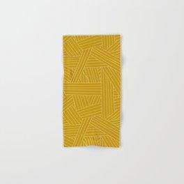Crossing Lines in Mustard Yellow Hand & Bath Towel