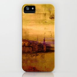 golden abstract landscape iPhone Case