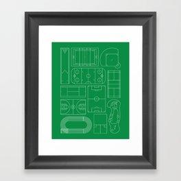 Sport Courts Pattern Art Framed Art Print